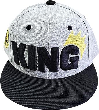 King Embroidered Sun Hat Agibaby Toddler Kids Snapback Flat Brim//Bill Hat Baseball Cap