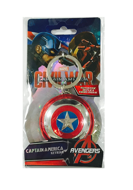Monogram Marvel Llavero Escudo Capitán América, Multicolor, One Size (0077764674211)