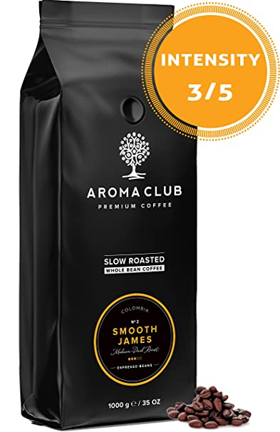 Aroma Club Café en Grano 1kg - Medium/Dark Roast Smooth James – Café Colombia