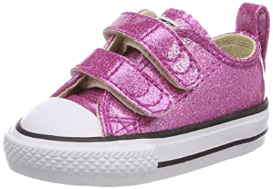 Converse Unisex-Kinder CTAS Hi Bright Violet/Natural/White Hohe Sneaker, Pink (Bright Violet/Natural/White), 26 EU