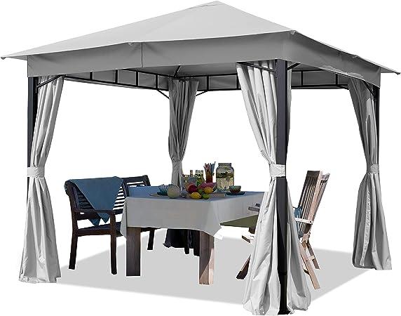 Cenador de jardín 3x3m Aprox. 180g/m² Lona de Techo pabellón ...
