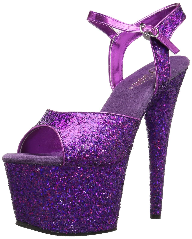 Women's Adore Purple Glitter Platform Sandals - DeluxeAdultCostumes.com