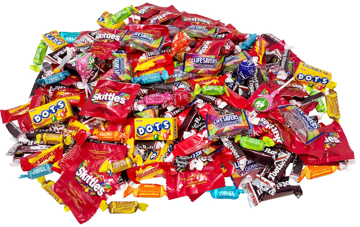 Assorted American Candy Classics Over 13 Favorite Flavors 11 Lb Variety Bulk Value Pack Skittles Tootsies Starburst Lifesavers Gummy Rings And More (176 oz) by Assortit
