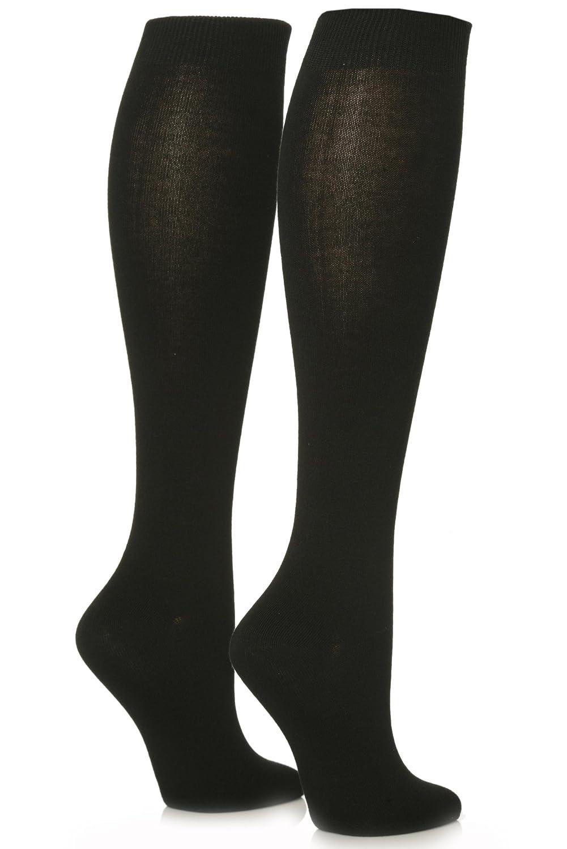 b84ccbf37 Ladies 2 Pair Sockshop Plain Bamboo Knee High Socks durable modeling. 2 Pair  Pack; Hand linked for smooth toe seams ...