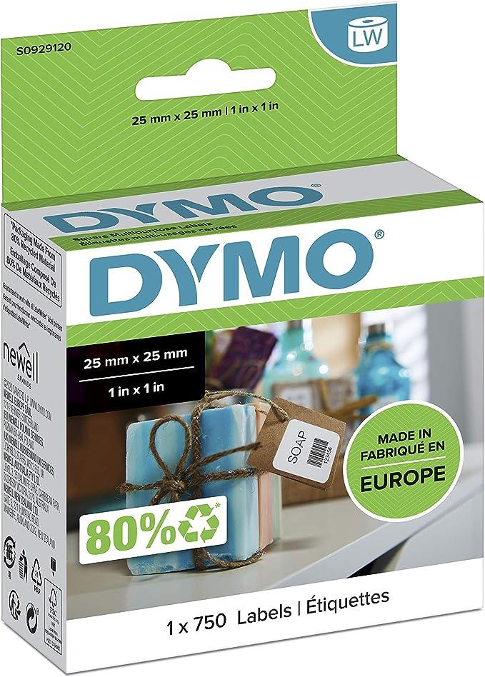 25 mm x 25 mm | 750 Etichette per Rotolo | Confezione da 20 Matsuro Originale Compatibli Rotoli Etichette Sostituzione per DYMO S0929120