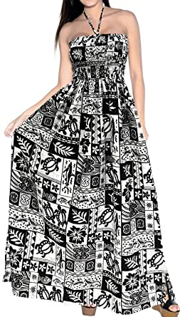 12a1e438de5ef LA LEELA Halter Neck Swimsuit Swimwear Large Beach Wear Dress Womens  Evening Skirt Maxi Black: *LA LEELA: Amazon.co.uk: Clothing