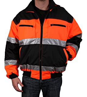 29710056e167e Safety Depot Reversible Jacket Class 2 ANSI Approved, Water Resistant, High  Visibility Reflective Tape
