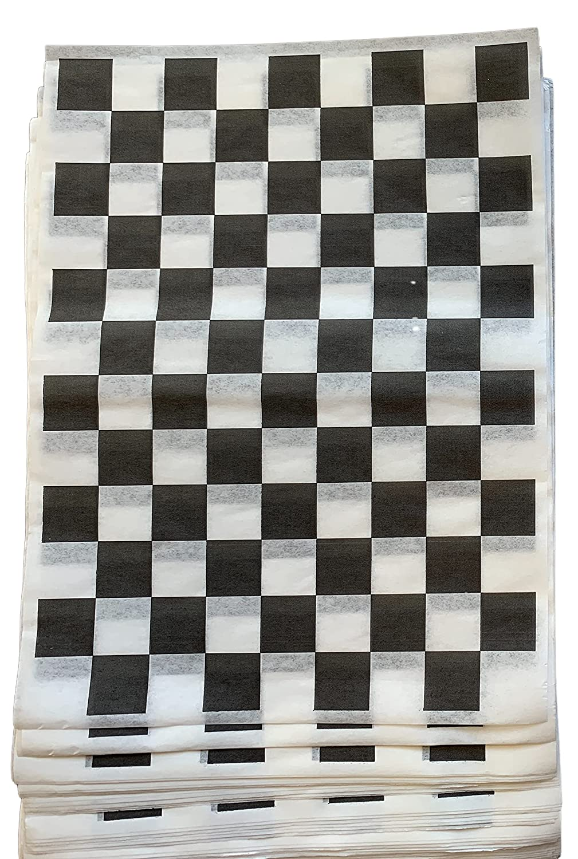 Black Checkered Deli Paper Basket Liner 9 X 12 Inches (50)