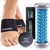 Foot Massager Roller Ball & Arch Support - Relieve Plantar Fasciitis, Foot Arch Pain, Heel, Muscles, Stress, Flat Feet…