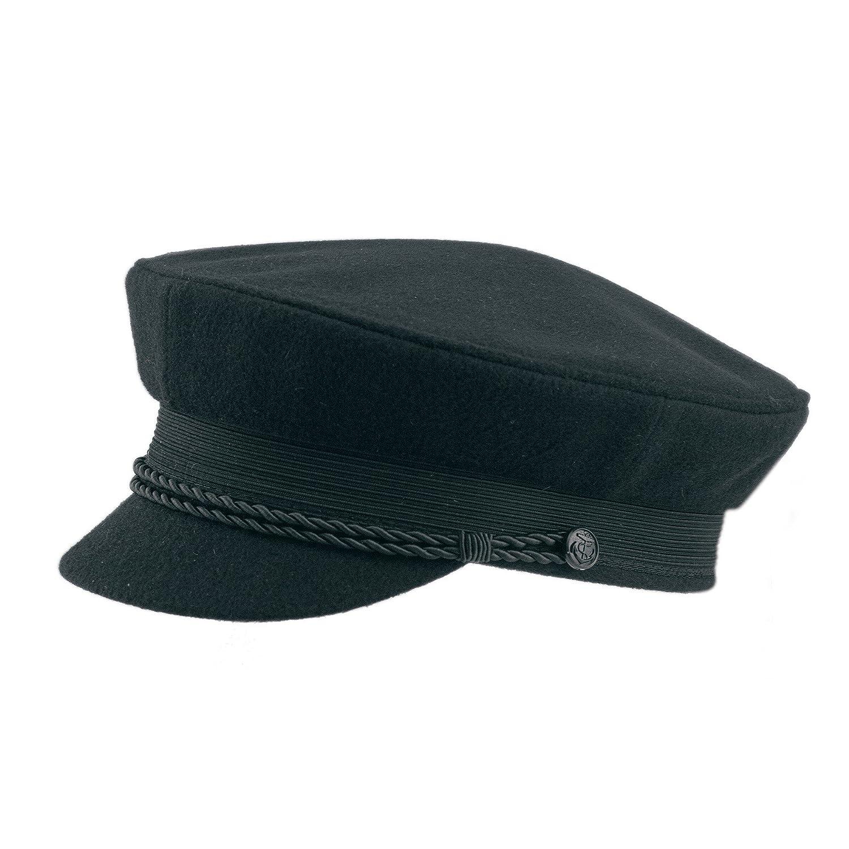 Schipperm/ütze Elblotsen-M/ütze Kapit/änsm/ütze Schifferm/ütze Hut Cap Hamburger Elbsegler Schwarz Black