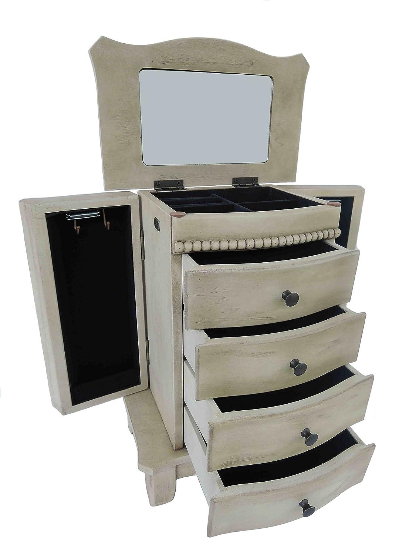 Schmuckkommode Schmuckkasten   Schmuckkästchen Schmucklade aus Holz im Vintage-Style  handgefertigt  jedes Stück ein Unikat