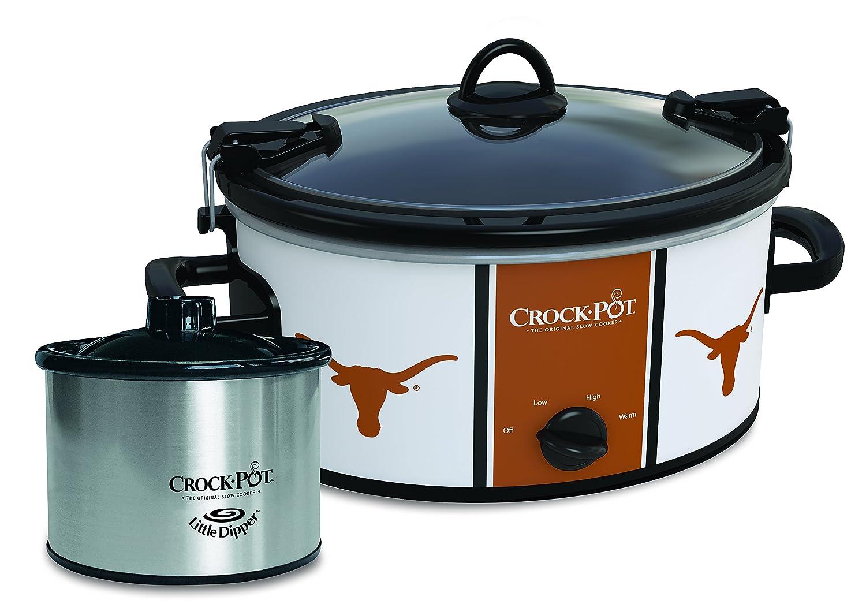 Crock-Pot Texas Longhorns Collegiate Cook & Carry Slow Cooker with Bonus 16-ounce Little Dipper Food Warmer