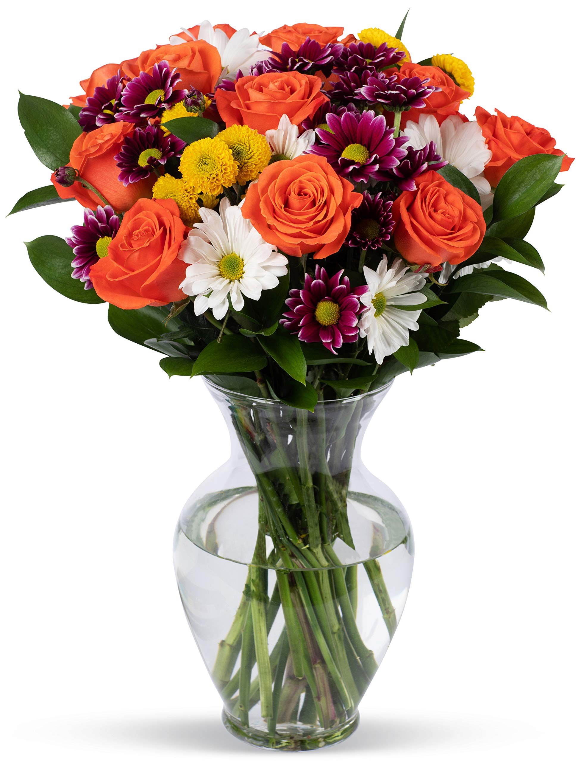 Amazon benchmark bouquets flowering fields with vase benchmark bouquets life is good flowers orange with vase fresh cut flowers izmirmasajfo