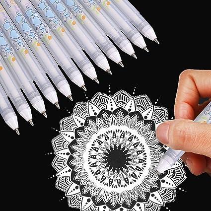 3//5 STÜCKE 0,8 MM Weiß Tinte Fotoalbum Gel Stift Feine Spitze Skizzieren Stifte