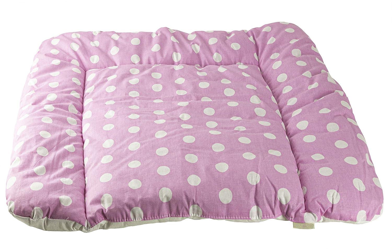 Clevere Kids Wickelauflage Sterne und Tiere 75x70 cm OEKO-TEX Standard 100 Mustersterne rosa