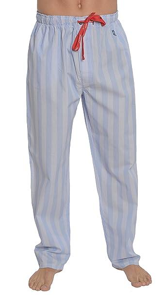 Pantalón de Pijama Largo clásico a Rayas de Caballero/Ropa de Dormir para Hombre -