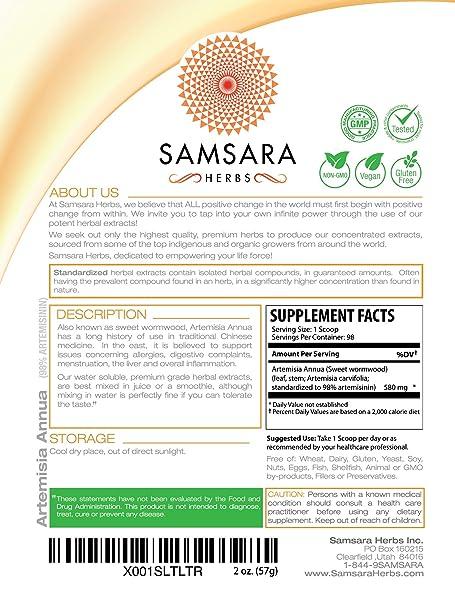 Amazon Com Artemisia Annua Extract Powder 2oz 98 Servings X