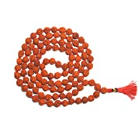 IS4A Genuine Himalayan Rudraksha Seeds Hindu Prayer Rosary (Necklace) 8mm 108 + 1 Certified 5 Face Rudraksh Beads…