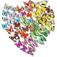 Colorido Mariposas Decoración 72pcs,3D Bricolaje Mariposa Etiquetas Engomadas,Adhesivos Mariposas 3D Decorativos,3D…