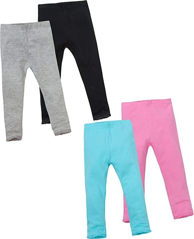 Minikidz Girls 2 Pack Warm Cotton Leggings