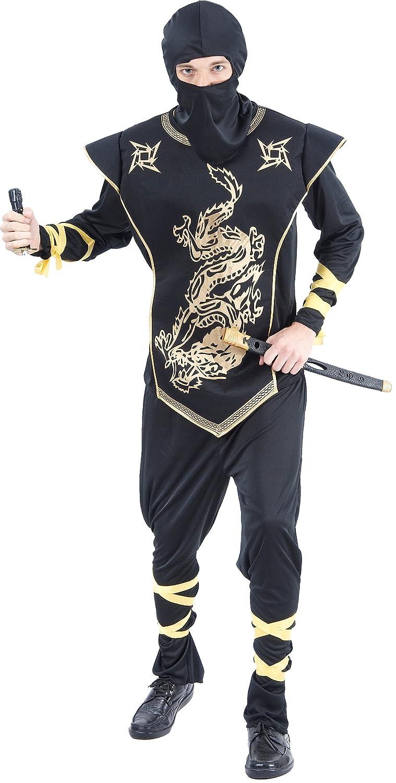 Disfraz dorado de ninja para hombre Talla única: Amazon.es ...