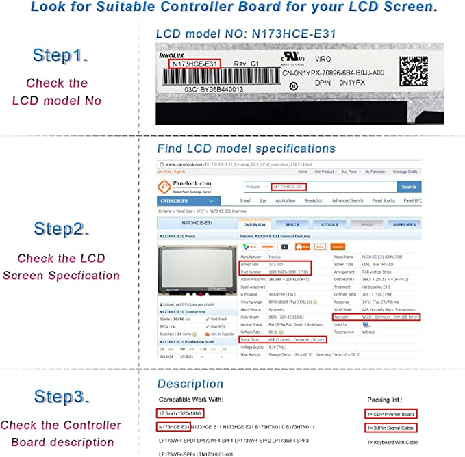 PC Parts Unlimited LTN156AT38-401 LCD Panel