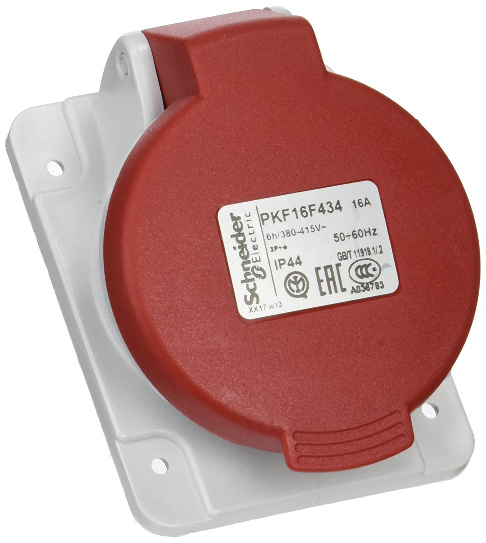 Schneider electric pkf16 F434 Papillote Base de prise incliné e, vis captif, 3p + t pô les, IP44 16 A 380/415 V 3p + t pôles IP4416A 380/415V PKF16F434