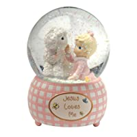 Precious Moments,  Jesus Loves Me, Snow Globe, Resin, Girl, 102403