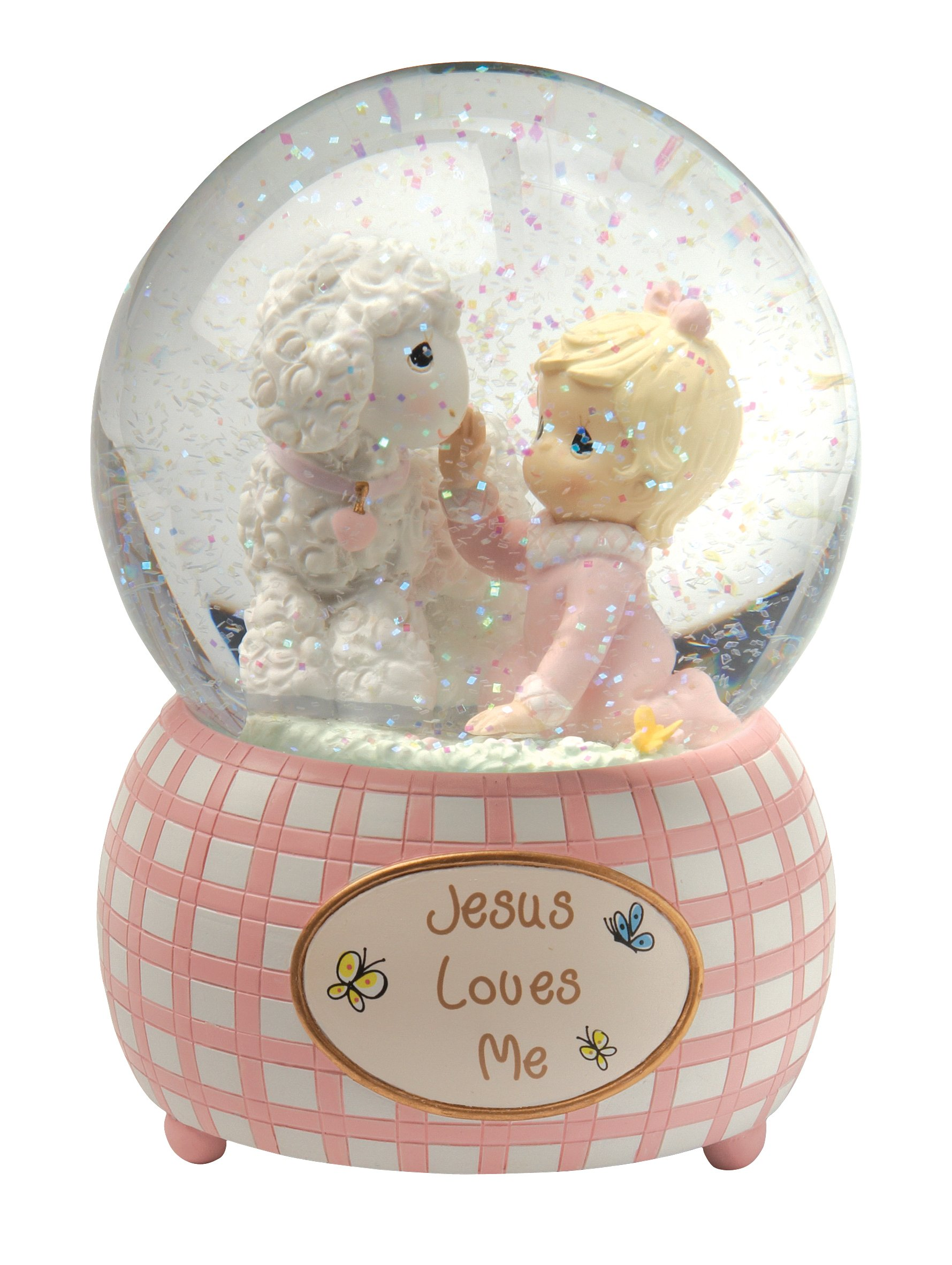 Precious Moments,  Jesus Loves Me, Snow Globe, Resin, Girl, 102403 by Precious Moments (Image #1)