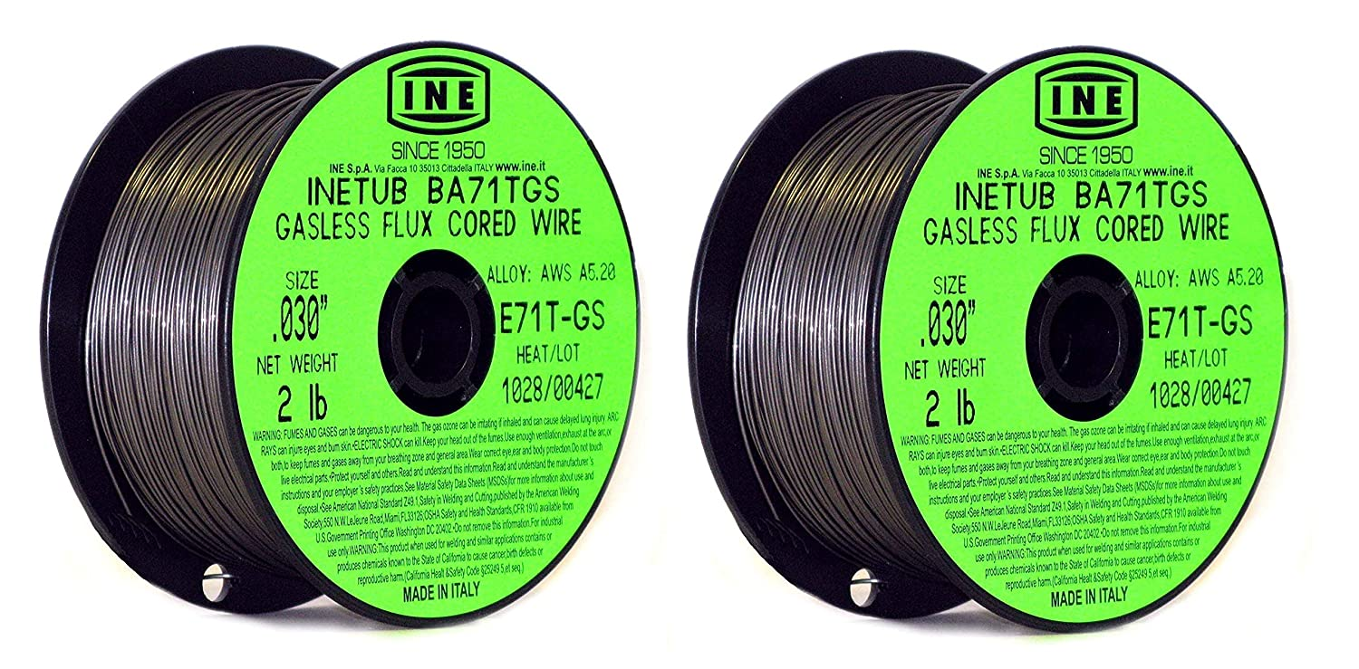 INETUB BA71TGS .030-Inch on 2-Pound Spool Carbon Steel Gasless Flux Cored Welding Wire (2-pack) - - Amazon.com