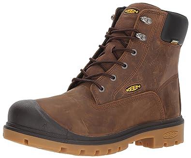 KEEN Utility Men's Baltimore 6 '' Soft Toe Waterproof Industrial Boot, Brown,  ...