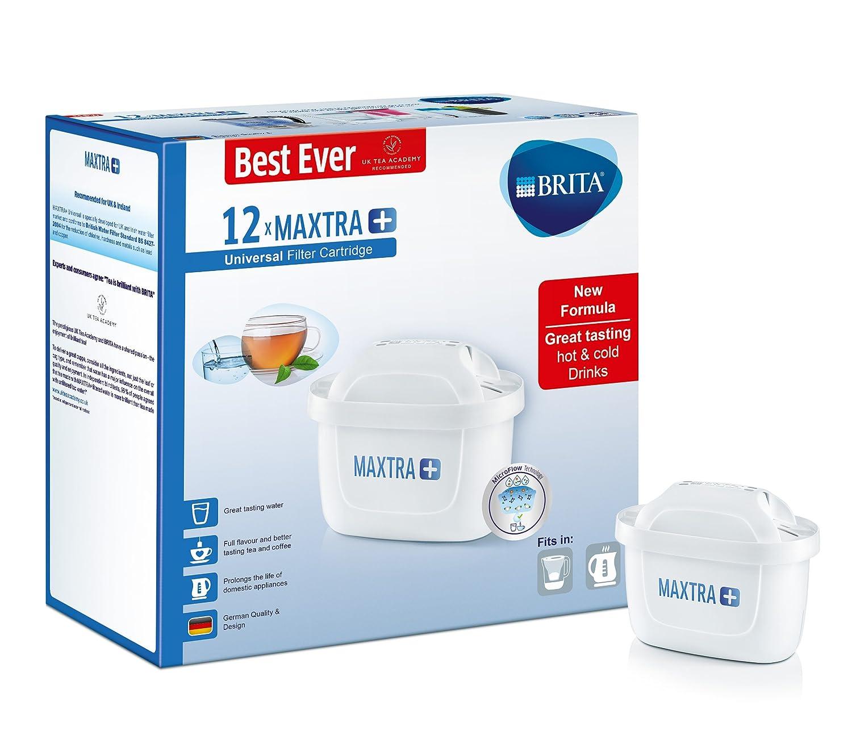 Brita Maxtra, Set di cartucce filtranti, Colore Bianco, plastica, White, Confezione da 3 S1323