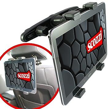 scozzi KFZ Auto Kopfstützen-Halterung für [Samsung Galaxy Tab S4 S3 S2 S A E 4 3 2 P5220 P5200 P5100 P31   12.2 10.5 10.1 10