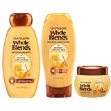 Garnier Hair Care Whole Blends Honey Treasures Repairing Shampoo, Conditioner, and Hair Mask, For Damaged Hair, 1 Kit