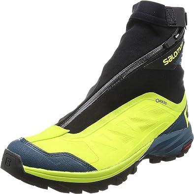 SALOMON Outpath Pro GTX Hiking Boot Men's Lime PunchReflecting PondBlack, US 7.0UK 6.5
