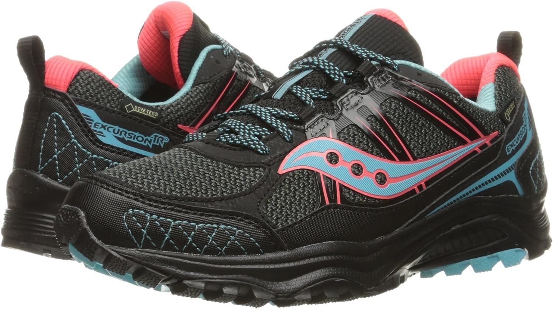 Saucony Grid Excursion Tr10 Trail Running Zapatilla para mujer, Negro (Negro/Cor/Azul), 39.5 EU: Amazon.es: Zapatos y complementos