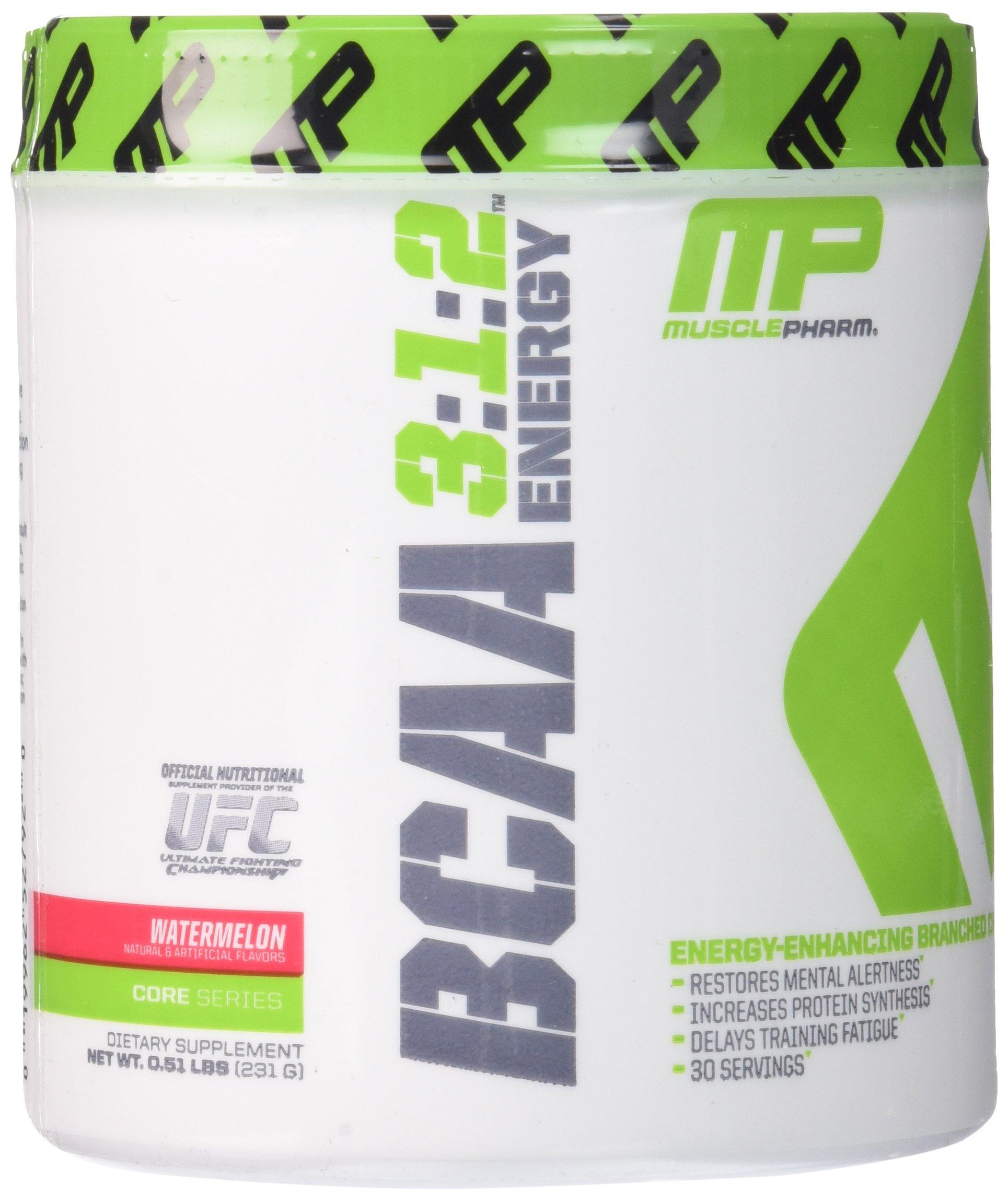 Muscle Pharm BCAA Energy Powder, Watermelon, 0.51 Pound