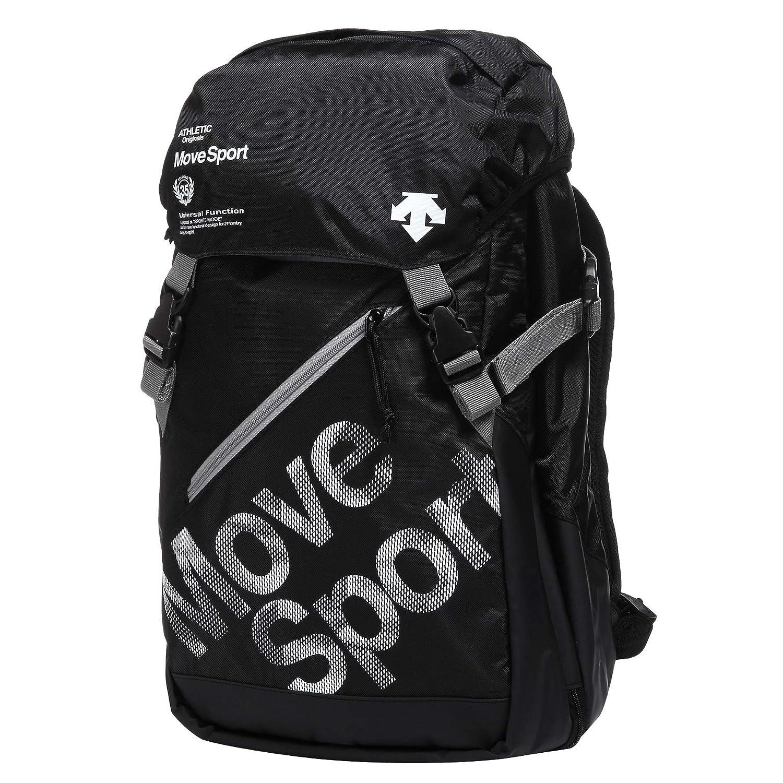 (デサント) DESCENTE Unisex Move Sport Hooded Backpack 男女共用ムーブスポーツフードバック (並行輸入品) One Size ブラック/ホワイト B07PWWXMJS