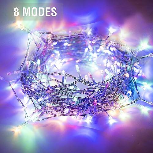 Kozyard Delite Indoor Outdoor String Lights for Christmas, Wedding, Party, Room Decoration, UL 588 Approved 200LED, Multicolor