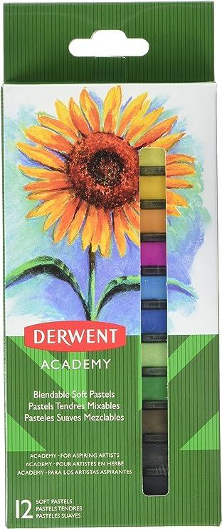 High Quality Set of 12 2302397 Derwent Academy Soft Pastels