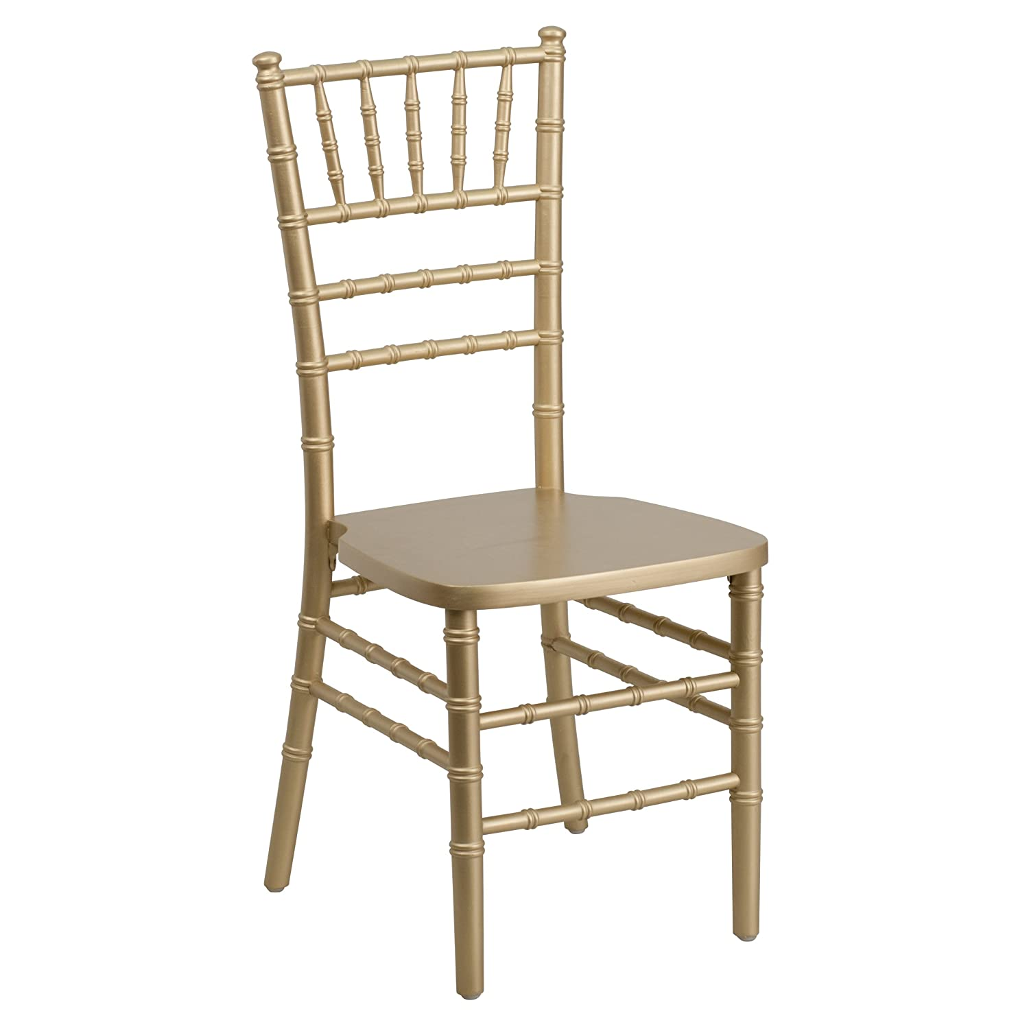 Amazon Flash Elegance Supreme Black Wood Chiavari Chair Gold