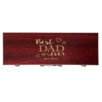 Personalizado para Papá regalo personalizado grabado mejor papá nunca 3pc Set de regalo de barbacoa para