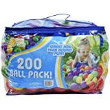 Sunny Days Entertainment 200 Ball Pack – Phthalate and BPA Free Crush Proof Plastic Balls Play Ball Pit in Assorted Colors, M
