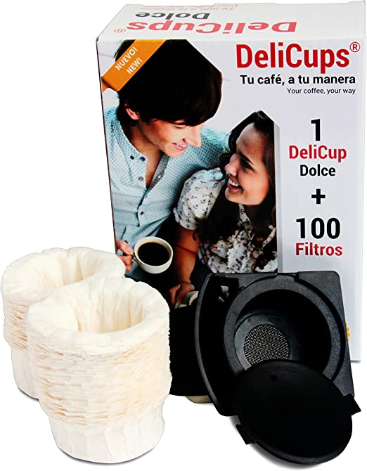 DeliCups Dolce - Cápsula reutilizable para cafeteras Dolce Gusto ...