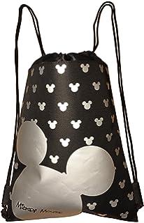 Disney Mickey Mouse Drawstring Backpack Bag (Silver)
