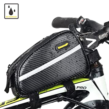 d6e2d1ced932 Sodee Bike Top Tube Bag Water Resistance Frame Bag Double Zipper Design for  Bicycle Accessories (