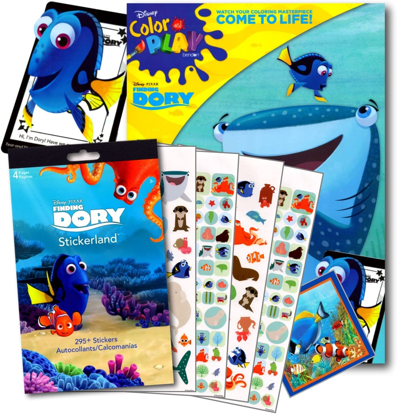 - Amazon.com: Disney Studios Finding Dory 96 Page Coloring Book Set
