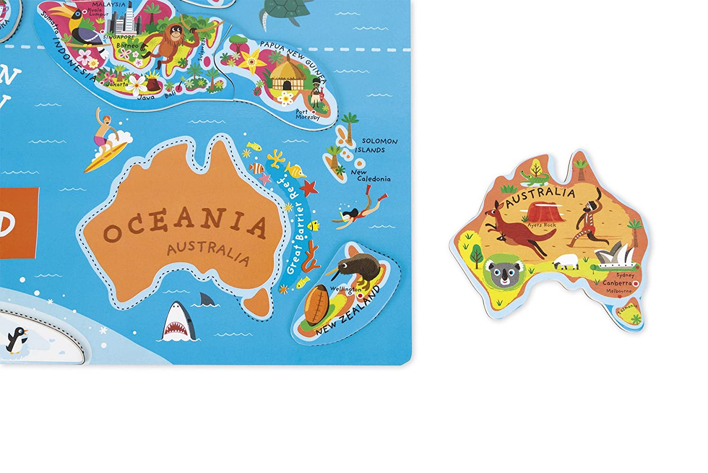 Janod J05503 - Puzzle Magnetische Landkarte Die Welt Welt Welt aus Holz 92 Teile, Spanisch a86e2d