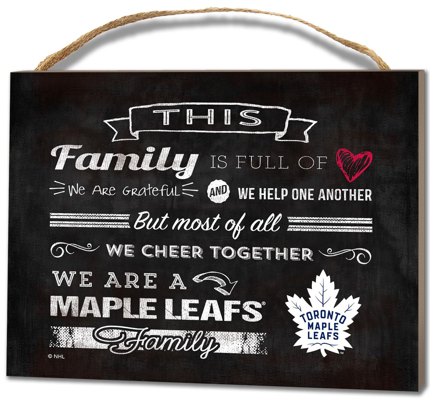 KH Sports Fan 1000100665 4x5.5 Toronto Maple Leafs Family Cheer Small NHL Plaque