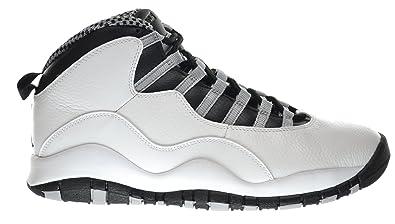517d4c9b268d22 Jordan Air Retro 10 Men s Sneakers White Black-Light Steel Grey-Varsity Red